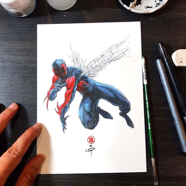 Dessiner les comics spiderman 2099 par andie tong - Dessiner spiderman ...