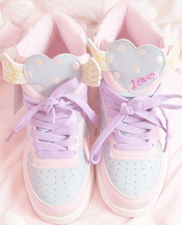 Pastel Pink Tennis Shoes