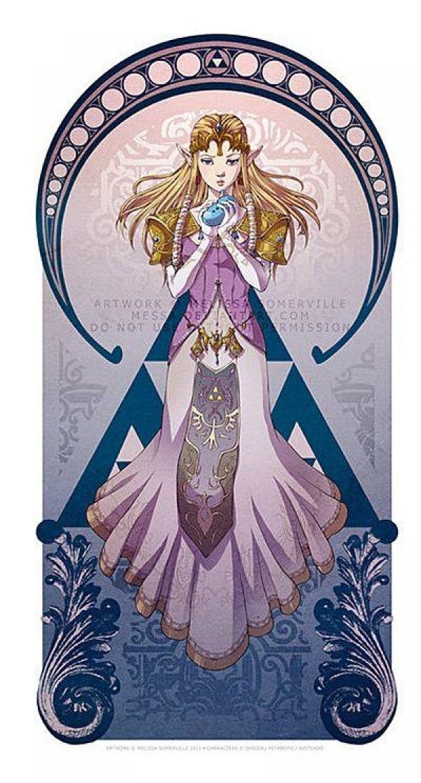 La princesse zelda artnouveau par melissa somerville - La princesse zelda ...