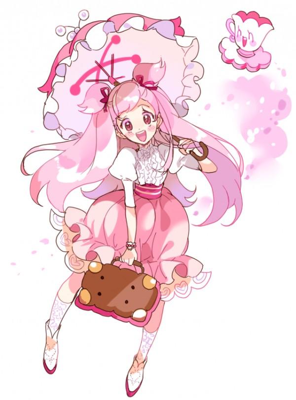 Dessin fille avec une valise en forme de biscuit par - Dessin de valise ...