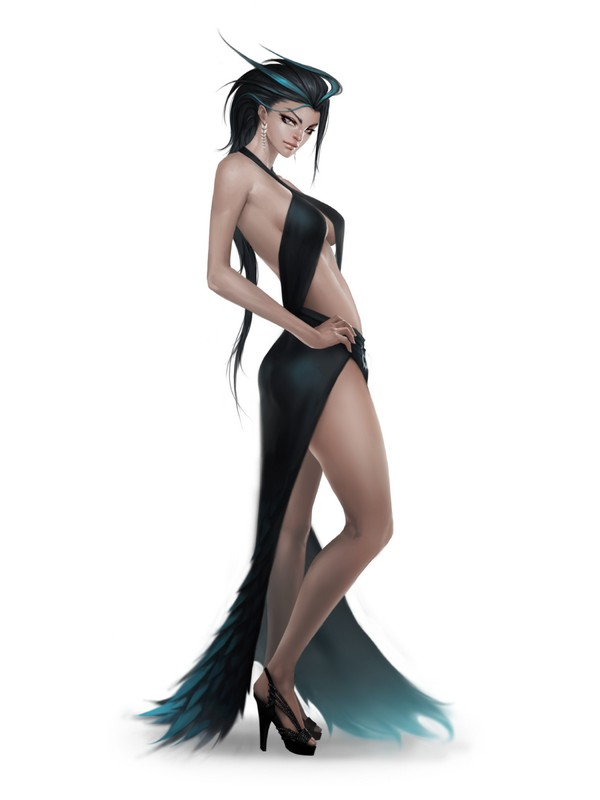 dessin femme robe sexy mode par arieaesu. Black Bedroom Furniture Sets. Home Design Ideas